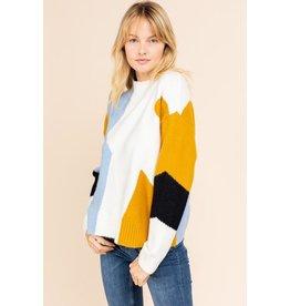 Abstract Colourblock Sweater