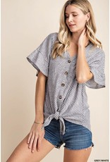 Tie Bottom Flutter Sleeve Top