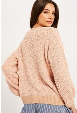 Popcorn Knit Pull Over Sweater