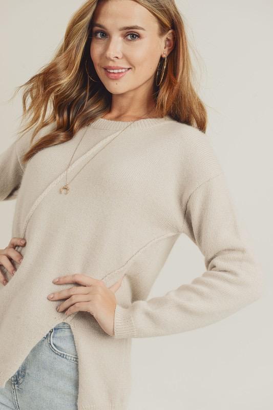 Asymmetrical Hem Sweater