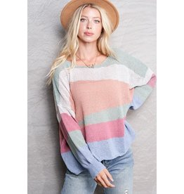 Pastel Asymmetrical Sweater