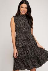 Vanita Midi Ruffle Dress