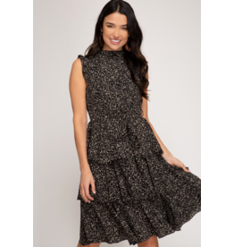 Vanita Midi Ruffle Dress