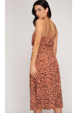 Valor Printed Smocked Dress