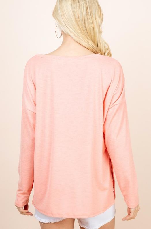 Sheer Basic Sweater Top