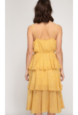 Zoey Ruffled Midi Dress