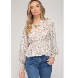 Penelope Surplice Top