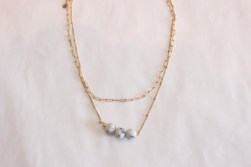 3 Bead Necklace