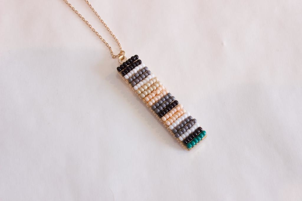 Spring Coloured Beaded Necklace
