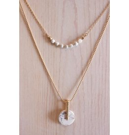 Double Marble Necklace