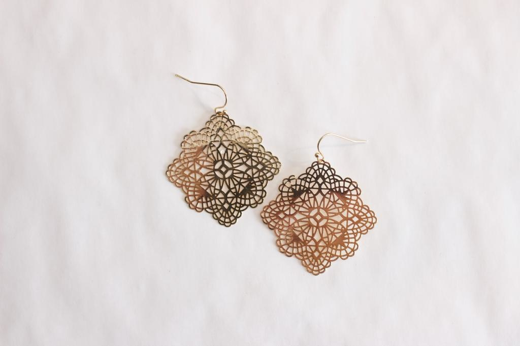 Gold Filigre Earrings