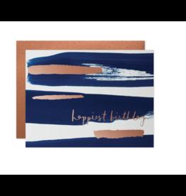 Happiest Birthday Navy Card