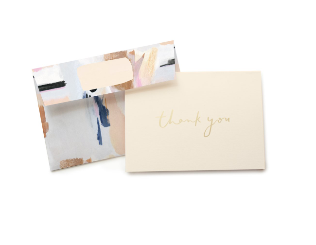 Cards Blue Abstract Thank You Card