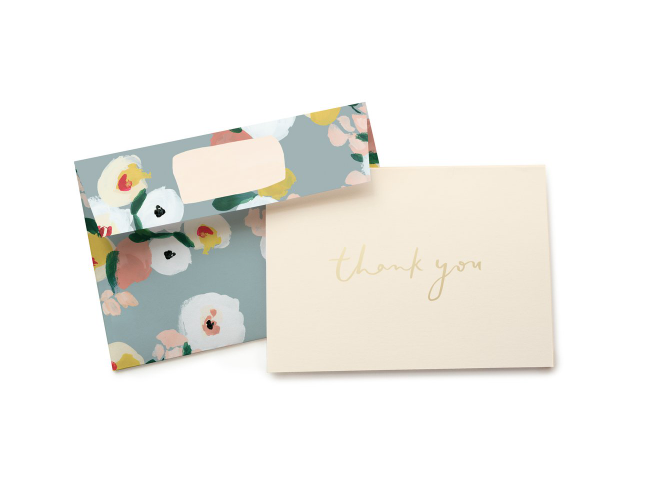 Cards Dusk Florals Thank You Card