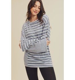 Striped Pull Over Top