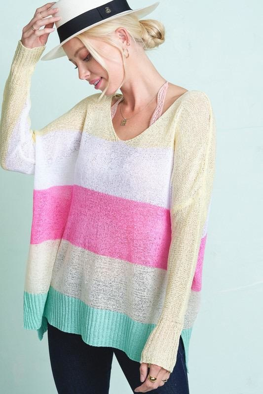 Lia Stripe Sweater