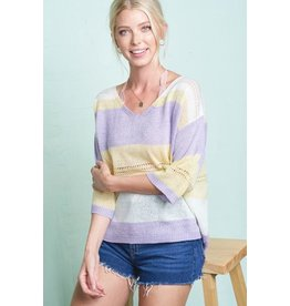 Leah Eyelet Sweater
