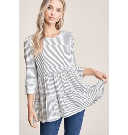 Tiered Peplum Top