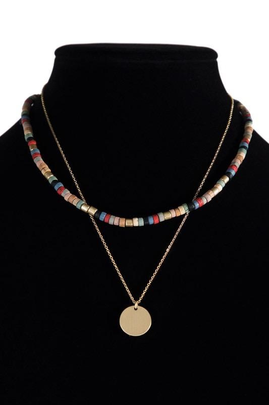 Beaded Double Necklace