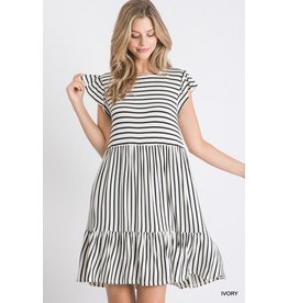 Paisley Stripe Dress