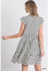 Paisley Stripe Dress