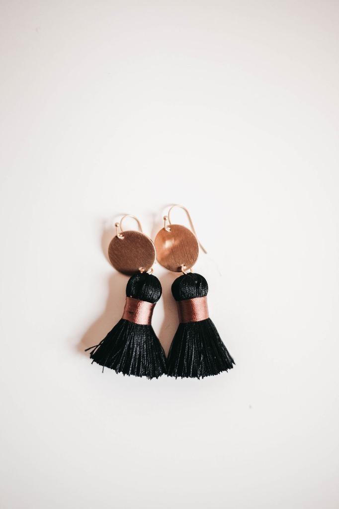 Woven Tassel Earring