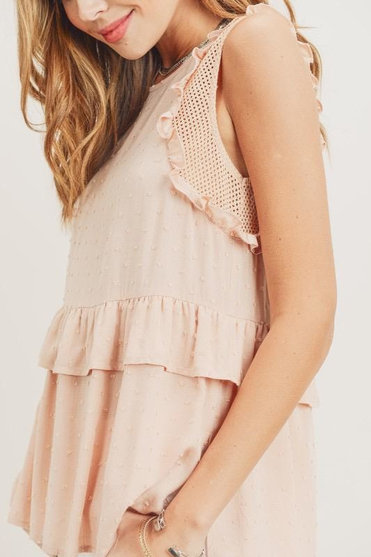 Monica Ruffle Tank Top