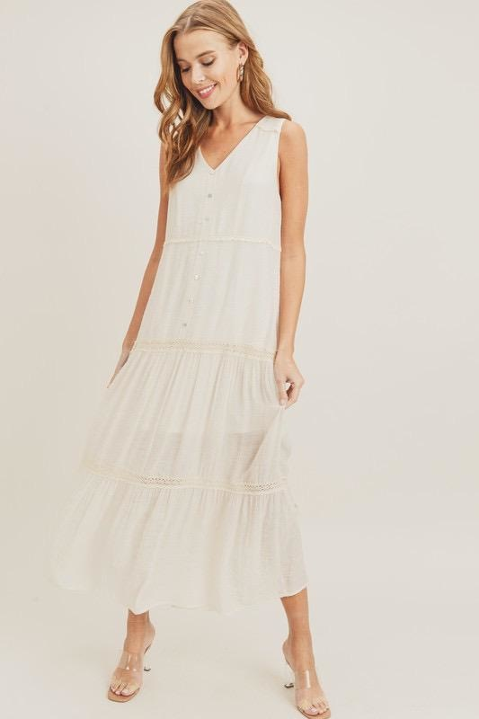 Juliet Button Down Maxi Dress