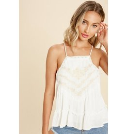 Rhea Embroidered Tank Top