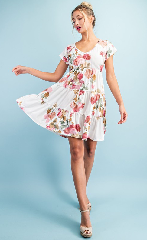 Viola Tiered Mini Dress