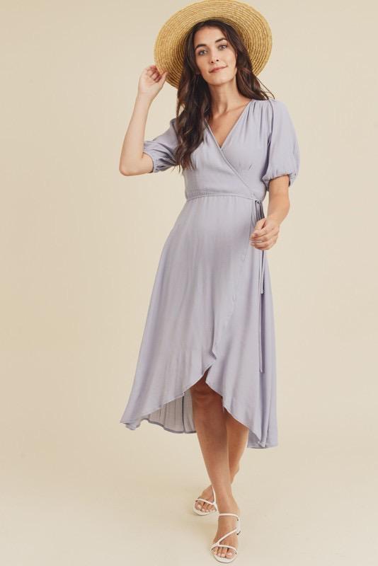 Mia 3/4 Sleeve Wrap Dress