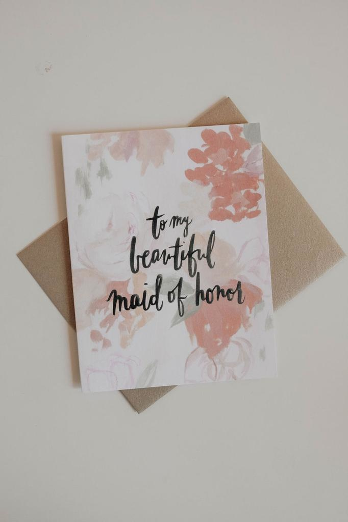 Cards To My Beautiful Maid of Honor