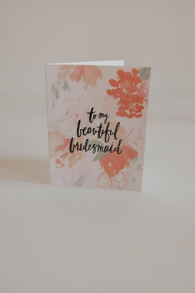 Cards To My Beautiful Bridesmaid
