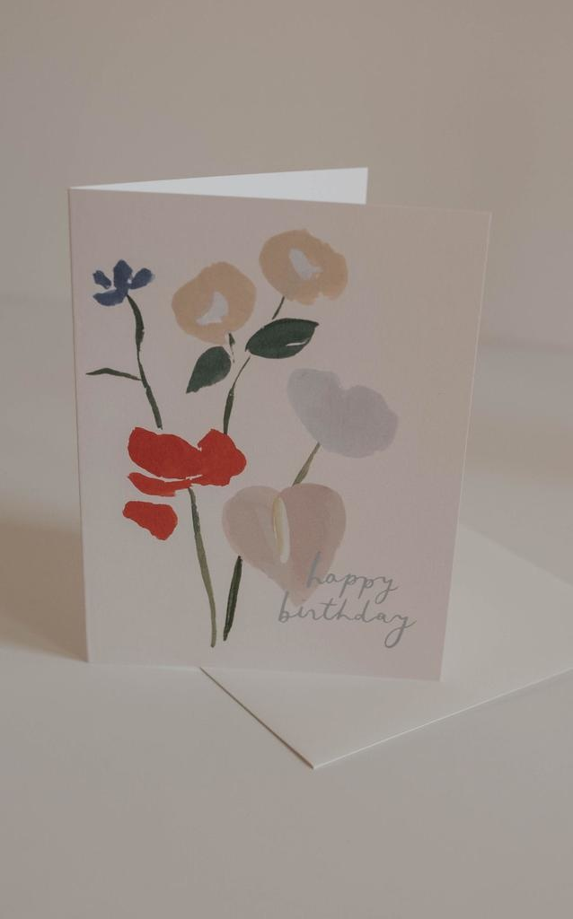 Cards Happy Birthday Bouquet