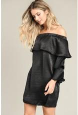 Off The Shoulder Bell Sleeve Dress
