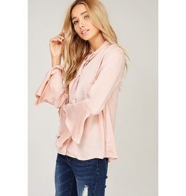 Silky Neck Tie Blouse