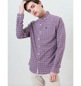 7 Diamonds In Contrast Long Sleeve Shirt