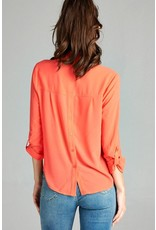 Roll Up Sleeve Blouse