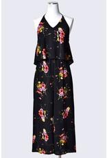 Jumpsuit Floral Print Halter Jumpsuit