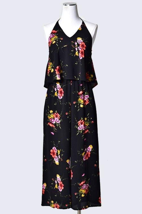 8a00b12f5c1 Floral Print Halter Jumpsuit - Style Bar Boutique