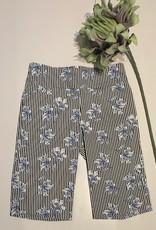 flower stripe shorts