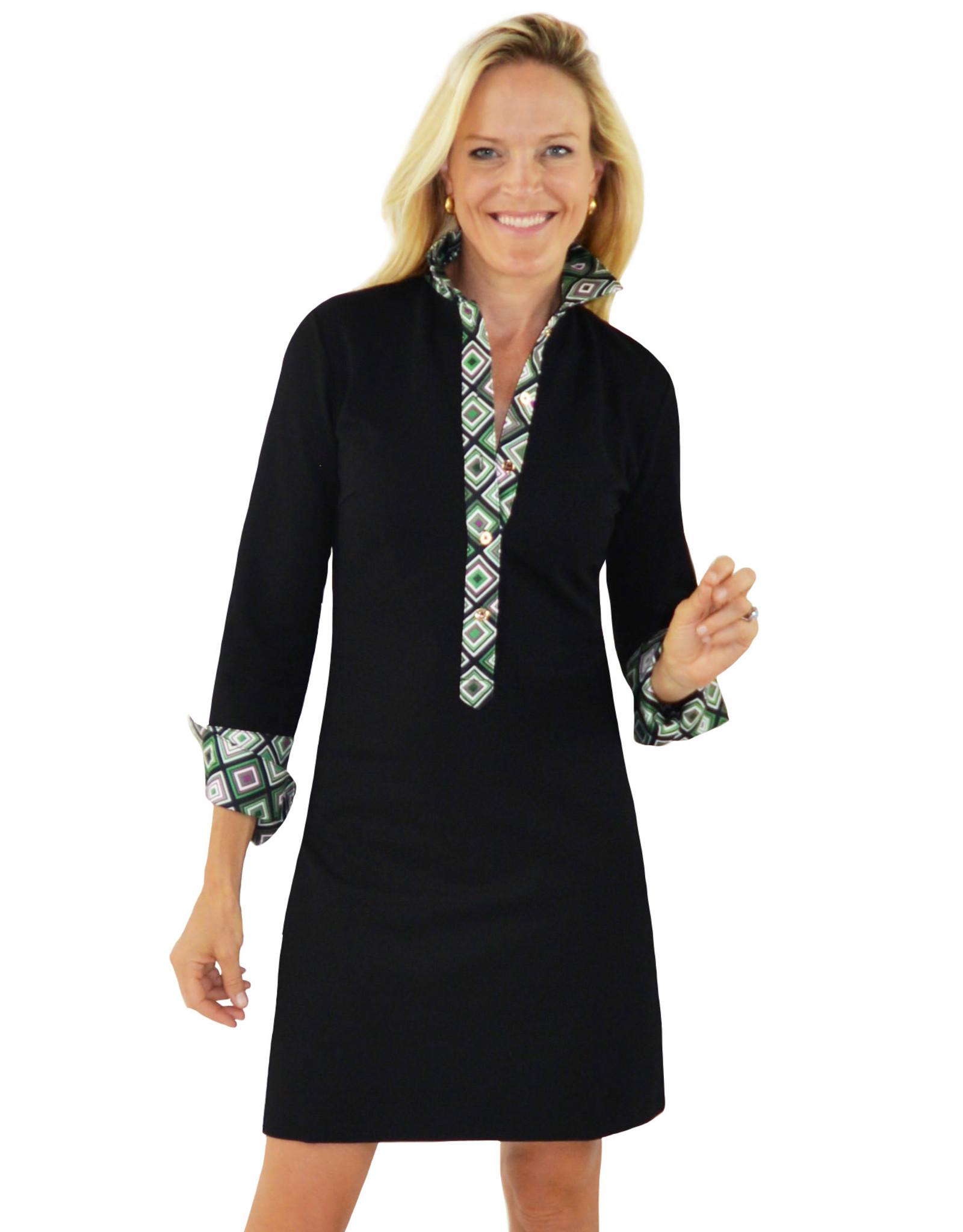 Ivy Dress Black/Green