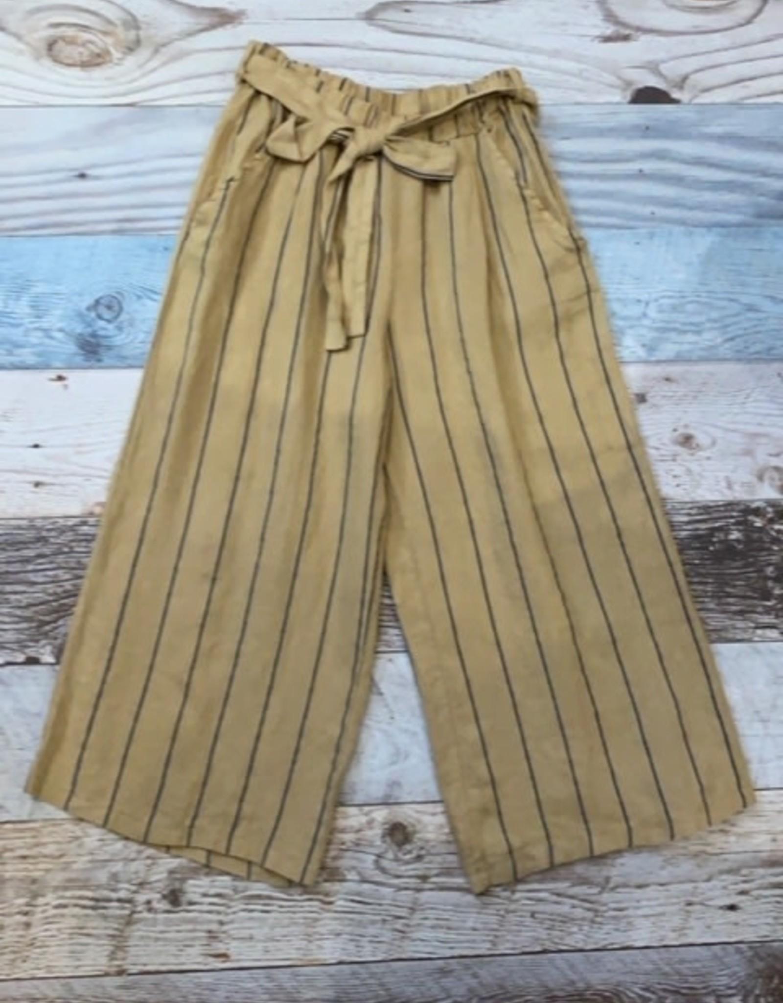 Demi linen stripe pants