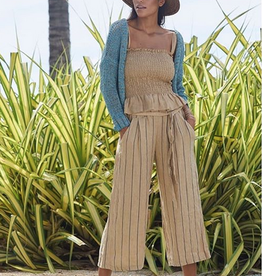 Demi linen stripe pants