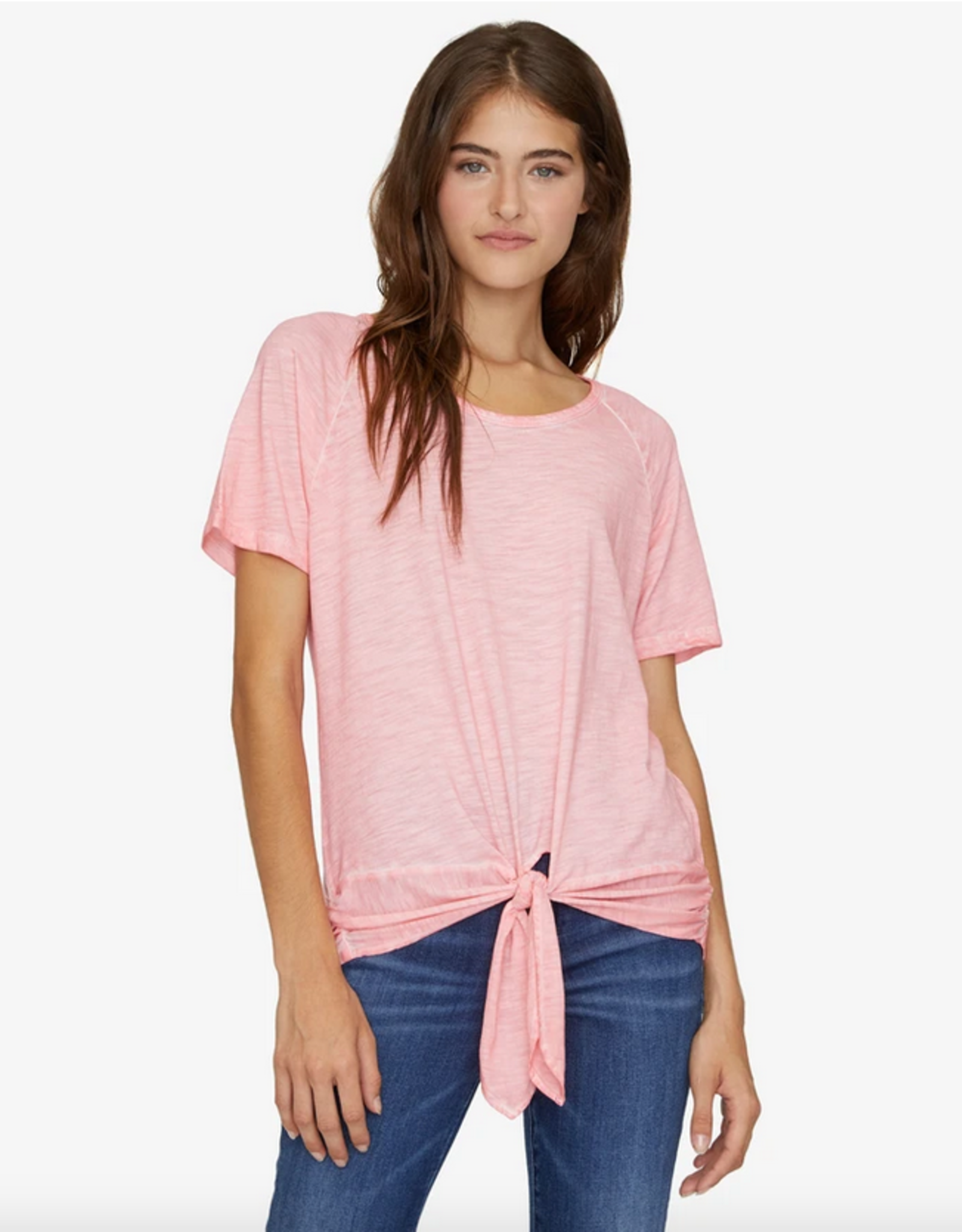 lou rouched tie tee