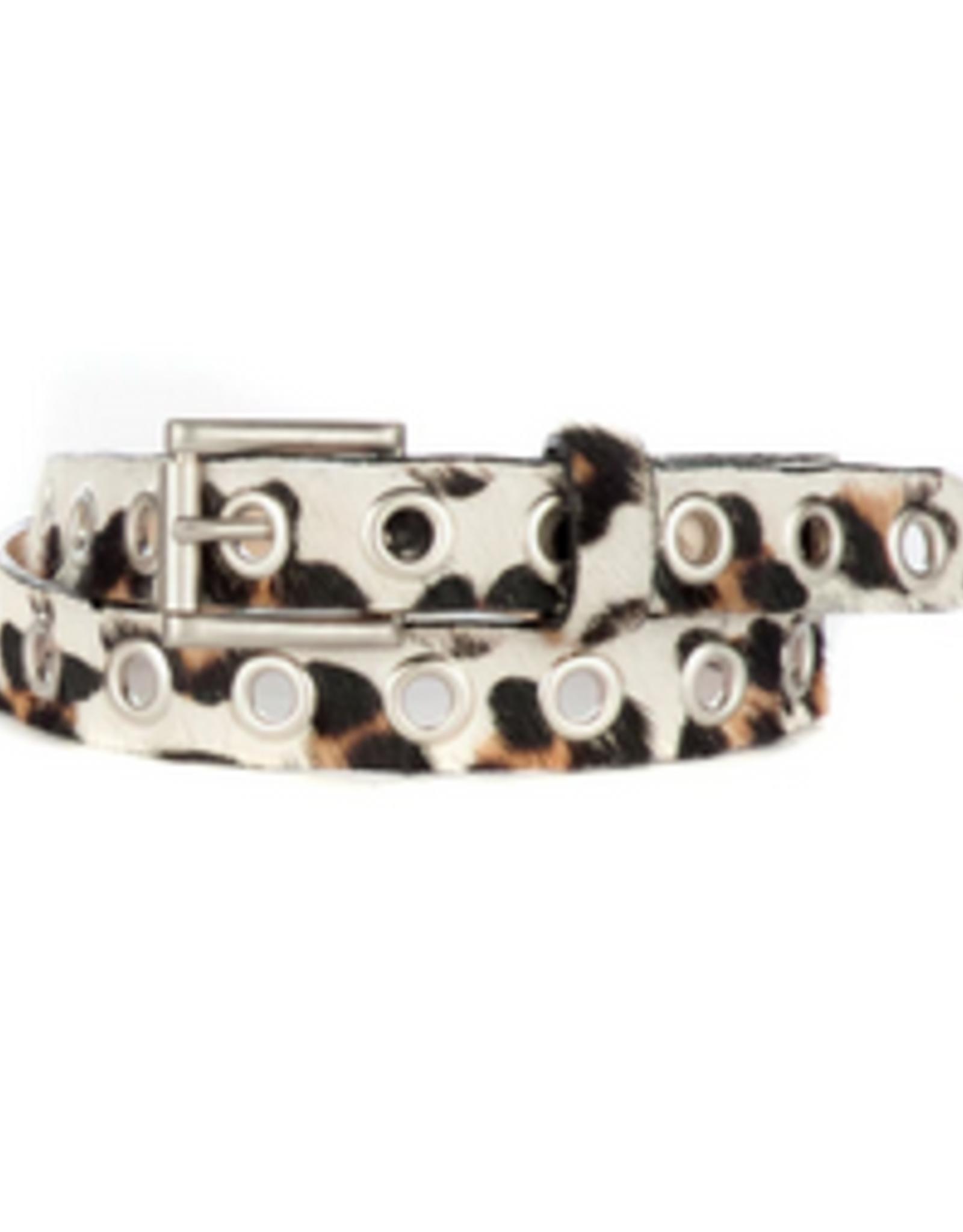 White leopard belt