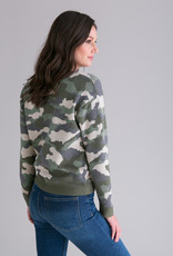 Cotton Cashmere Relaxed Camo Pullover
