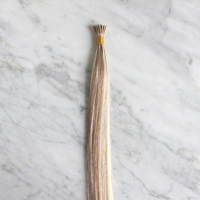 "Extensions à microanneaux Blond Balayage Châtain Froid 20"""