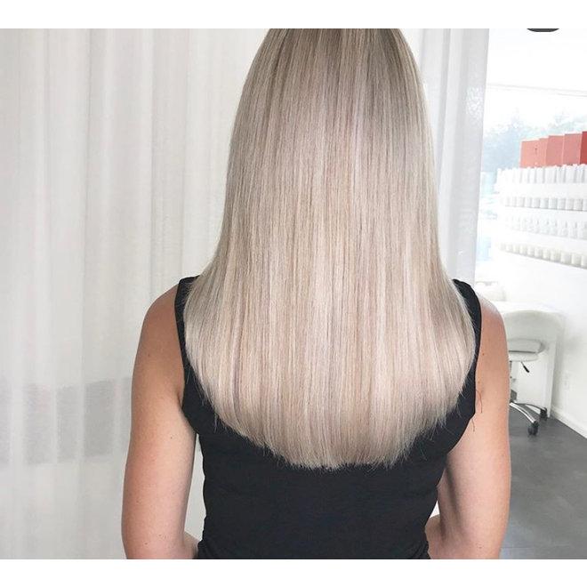 """Extensions à microanneaux Blond Polaire 24"""""""