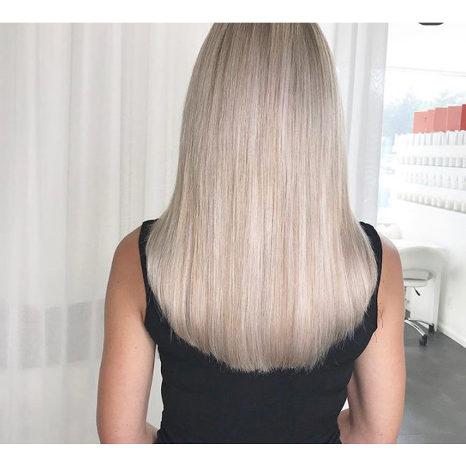 Extensions à clips Blond Polaire 20""
